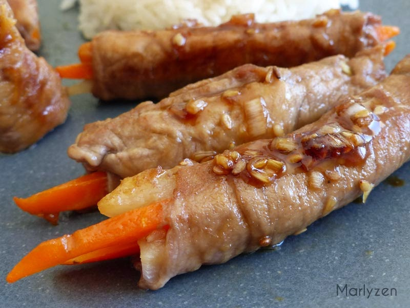 Roulés de boeuf aux légumes à la coréenne