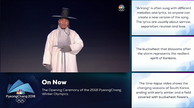 PyeongChang 2018 Winter Olympics Opening Ceremony Arirang singer 77 years old