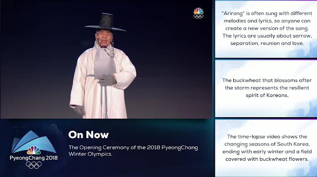 PyeongChang 2018 Winter Olympics Opening Ceremony Arirang singer 77 years old