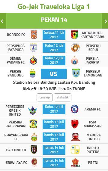Jadwal Pertandingan & Siaran Langsung Liga 1 Pekan 14