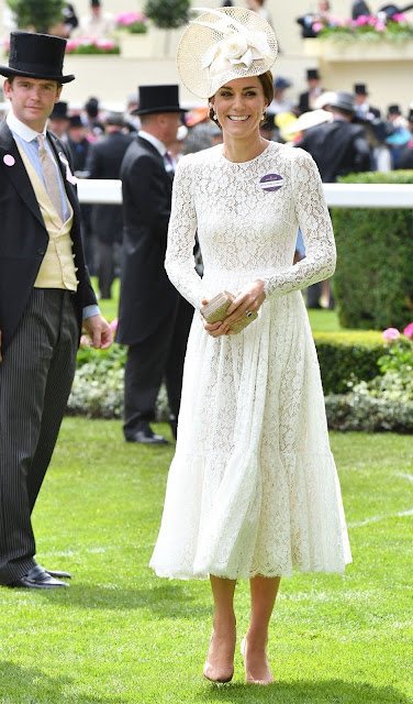 Britain's Catherine, Duchess of Cambridge and Britain's Prince William, Duke of Cambridge attends day 2 of Royal Ascot