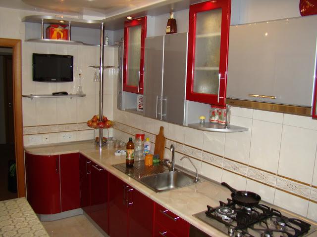 Угловая кухня акрил фото