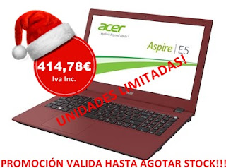 "Aspire E 15 15.6"" Acer CineCrystal - Intel® Core™ I3-4005U - 4 GB - 500 GB"