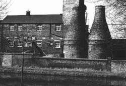 Calcining Kilns at Twyfords, Cliffe Vale, Stoke on Trent, England.