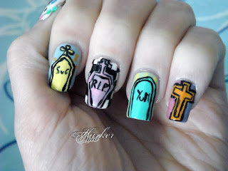 SuG Pastel Horror Yum Yum Show nails