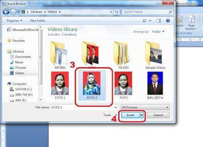 memasukan gambar di office word