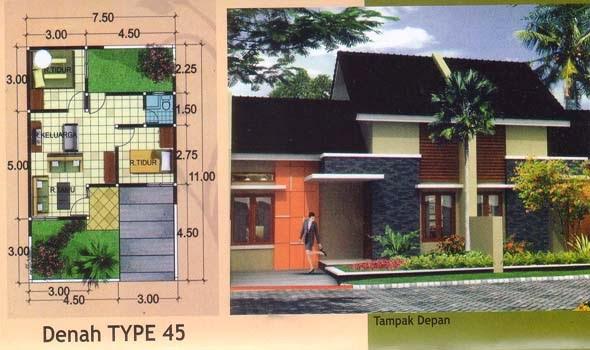 karena semakin banyaknya bangunan yang berdiri Desain Rumah Type 45 Model Minimalis Dan Sederhana 2014