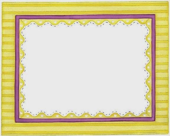 Orilla con Rayas de Colores: Marcos, Bordes y Etiquetas para Imprimir Gratis.