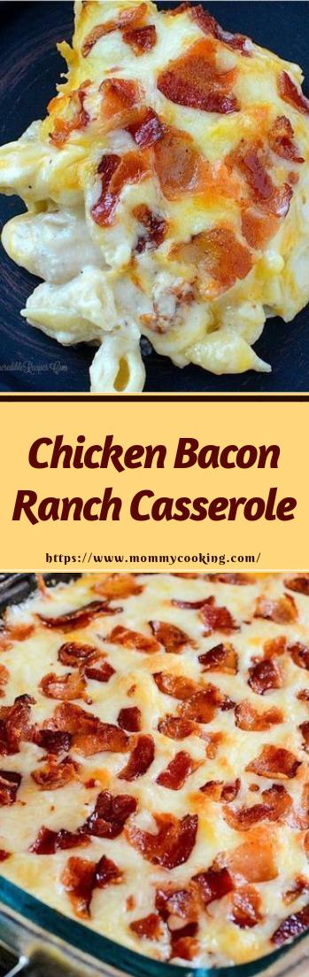 Chicken Bacon Ranch Casserole #dinnerideas #quickeasy