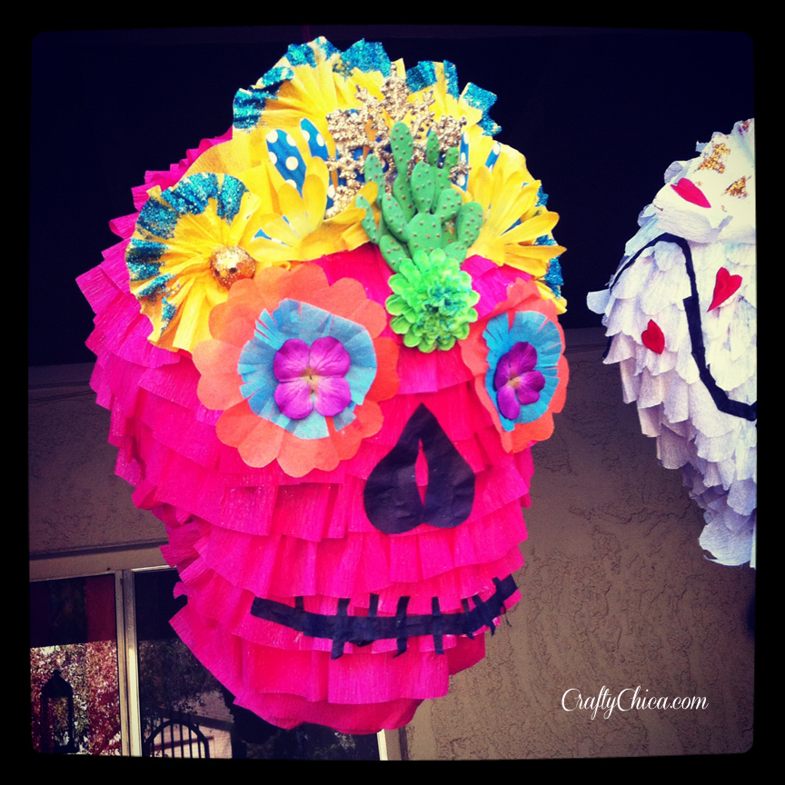 Sugar Skull Piñata Tutorial - (No Balloon!)