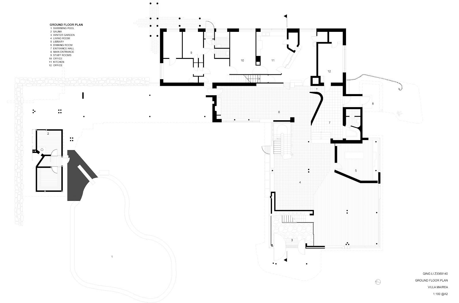 Qing Li Jenny Arch Villa Mairea Drawings
