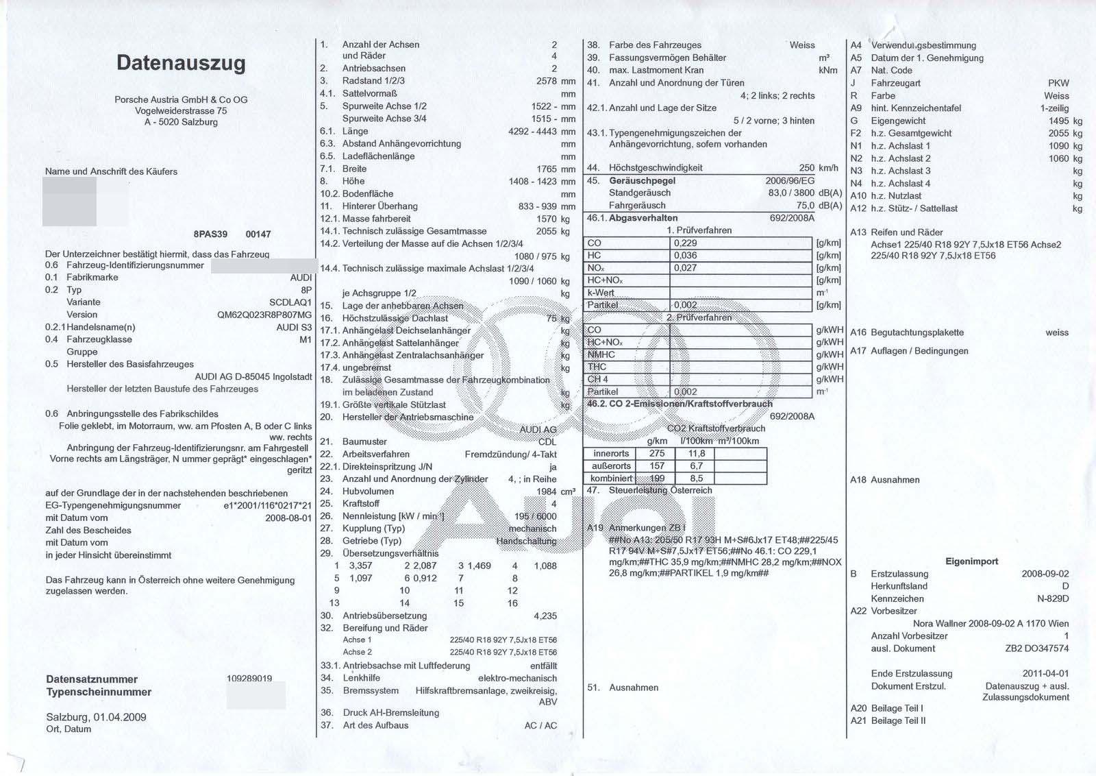 Ponete las piletas: Matricular un coche en Austria