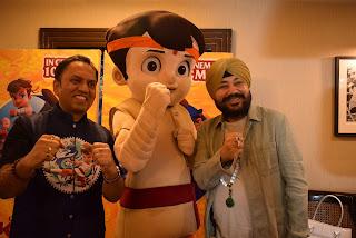 """""""छोटा भीम कुंग फू धमाका टीम और सिंगर दलेर मेहंदी ने दिल्ली में किया फिल्म का प्रचार"""""""
