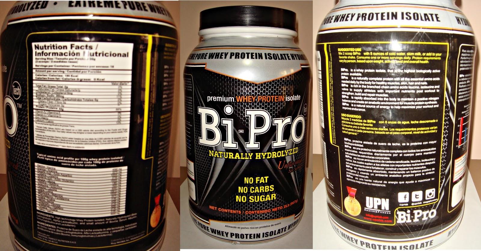 BiPro proteína de UPN: análisis, características, opiniones, review