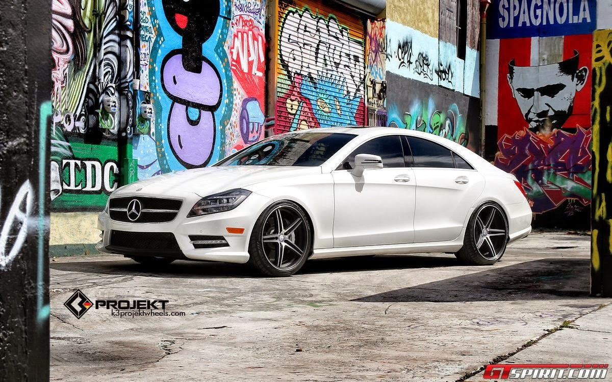 Mercedes Benz Cls550 On K3 Projekt Wheels Benztuning Black Cls 550