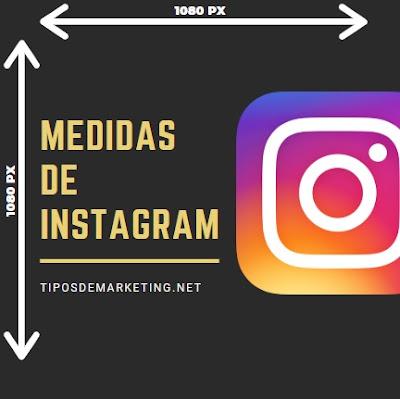 medidas de instagram perfil y post