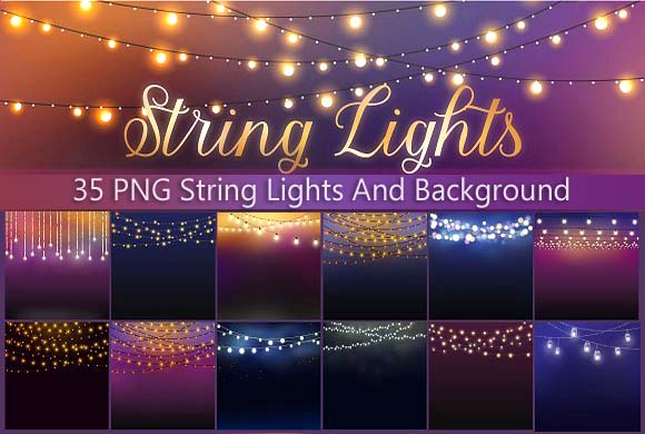 35 String Lights PNG