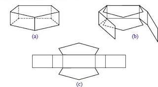Gambar Jaring-jaring Prisma Segi lima