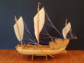 Chinese junk model for inland use at Penobscot Marine Museum