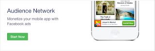 Daftar Facebook Audience network dengan klik mulai warna hijau