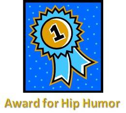 Liza get's humor award for her hip