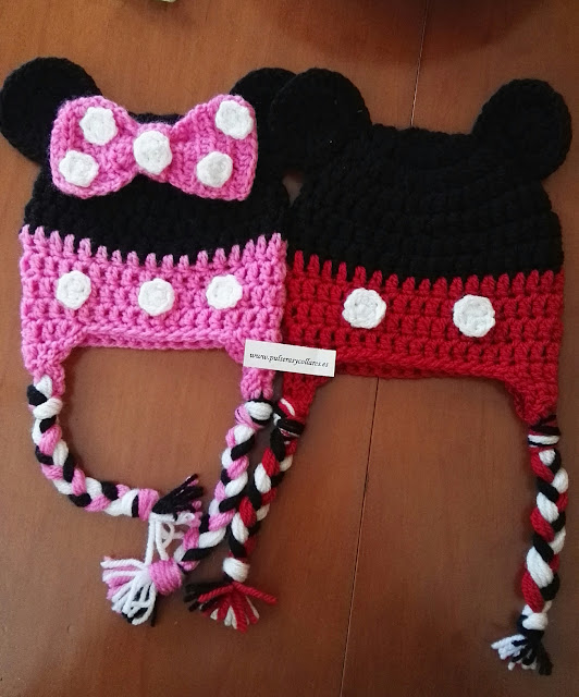 GORRO DE MICKEY Y MINNIE