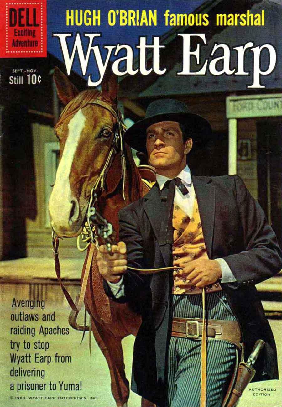 Wyatt Earp v2 #12 - dell western 1960s silver age comic book cover art