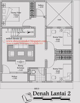 Desain Rumah 005 Desain Rumah Tinggal 2 lantai Plus