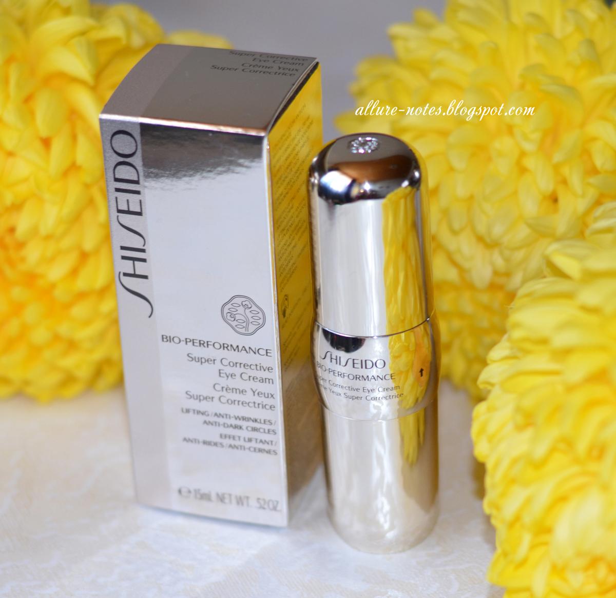 Суперкорректирующий крем для контура глаз  Shiseido Bio