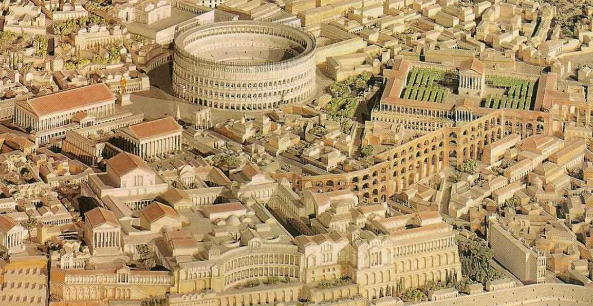 Maqueta de la antigua Roma