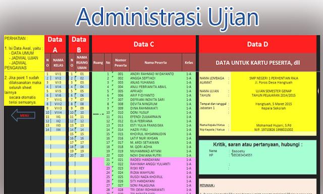 Aplikasi Administrasi Ujian Sekolah SD Mudah Digunakan