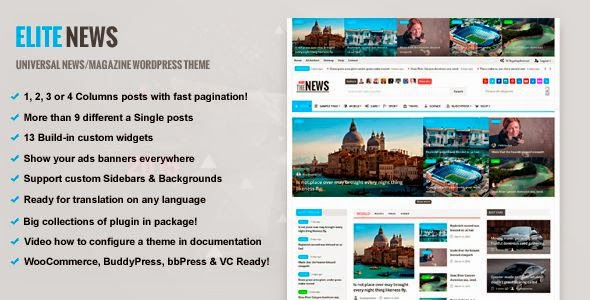 Best Responsive Magazine WordPress theme