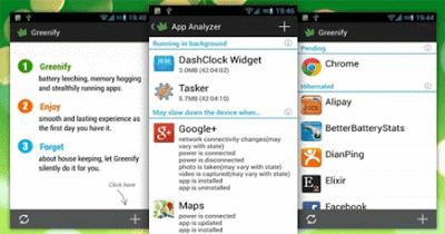تسريع ,الهاتف ,عبر, تطبيق : Greenify