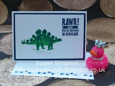Stampin' Up! UK Independent Demonstrator Susan Simpson, Craftyduckydoodah!, No Bones About It, Supplies available 24/7,