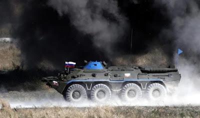 Amunisi yang Diangkut Meledak, Lima Tentara Rusia Tewas