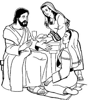 Resultado de imagem para jesus visita marta e maria