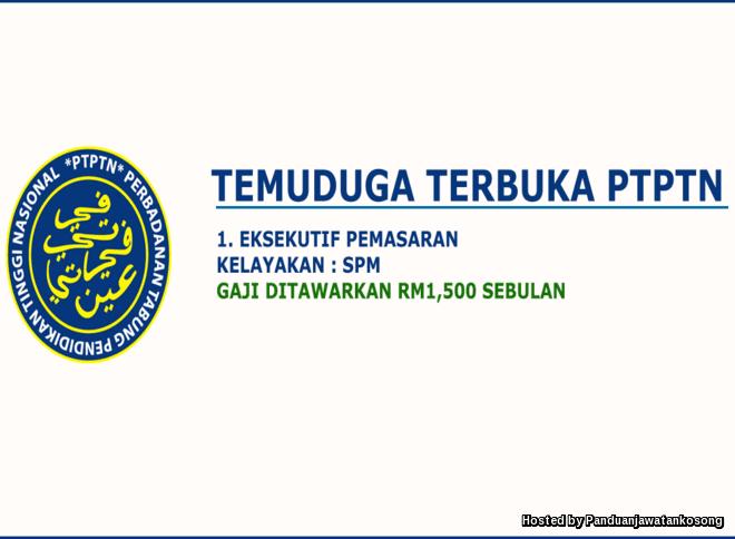 Iklan Jawatan Kosong Perbadanan Tabung Pendidikan Tinggi Nasional (PTPTN) (20 Disember 2017)