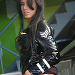 Andrea Rincon, Selena Spice Galeria 5 : Vestido De Latex Negro Foto 133