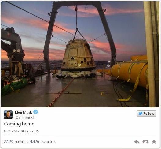 the good word groundswell: SpaceX Celebrates Successful ...