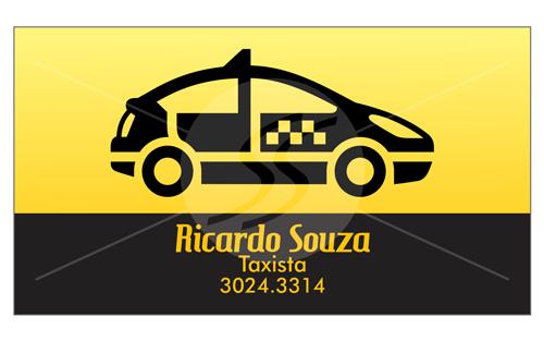 cartao de visita taxistas ponto - Cartão de visita criativo para taxistas