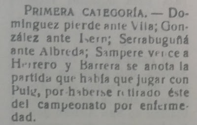 Recorte sobre el Campeonato individual de ajedrez de Badalona 1958