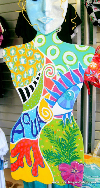 hand painted funky mannequin