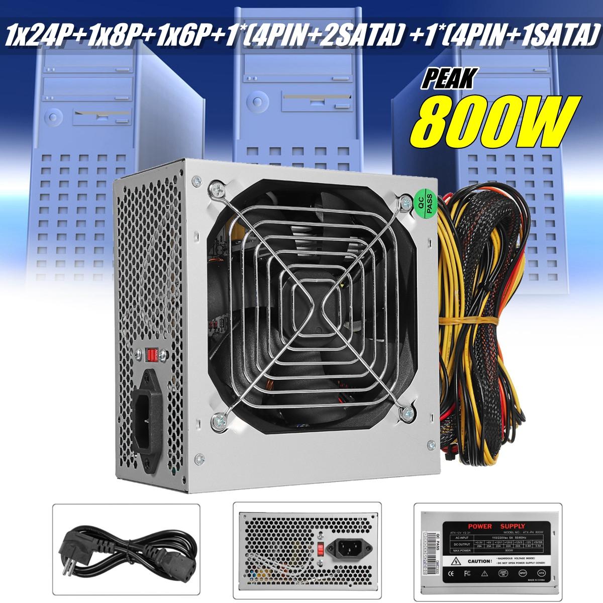 800w Power Supply Psu Pfc Silent Fan Atx 24 Pin Pc Computer Gaming Inside Circuits Gt Ac To Dc Converter L9088 Nextgr Au