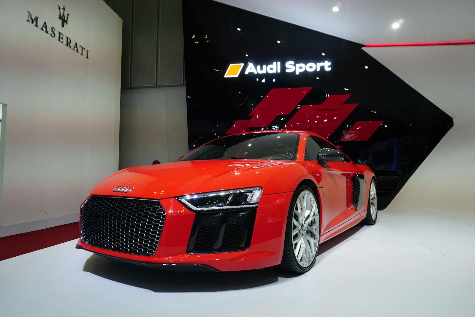 Audi R8 V10 Plus là siêu phẩm sáng giá tại VIMS 2016 năm nay