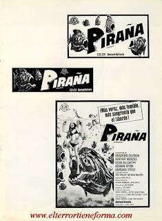 Guía Publicitaria de Cb Films de la película 'Piraña' Pag. 6