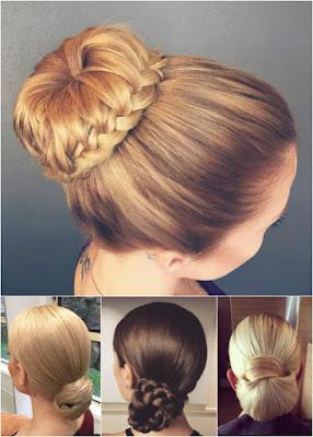 peinados recogidos con flores
