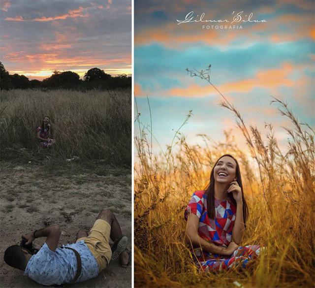 Đơn giản là ngồi cười một mình giữa bụi cỏ khô