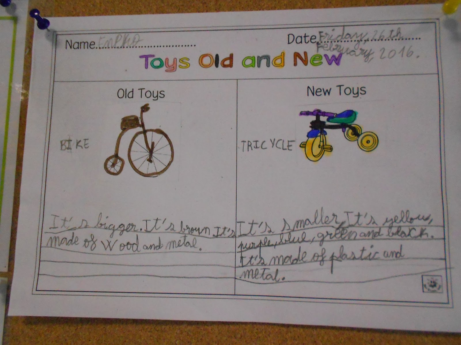 Zaldupe English Blog Grade 2 Comparing Toys Old And New