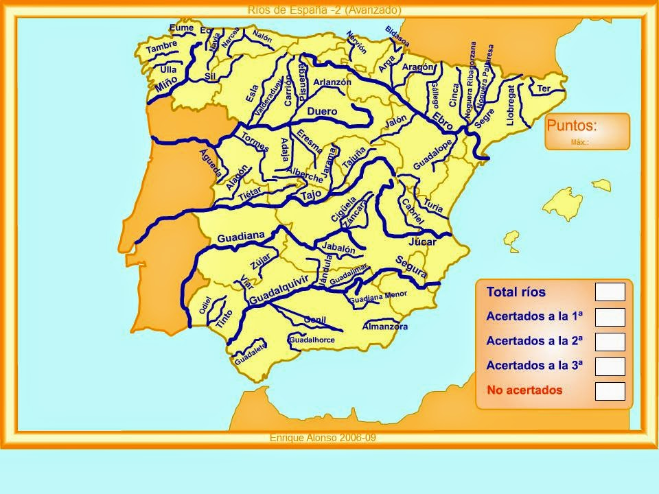 Map Of Spain Rivers.Infanta Catalina 6th Course 2014 2015 Sciences Revision Rivers