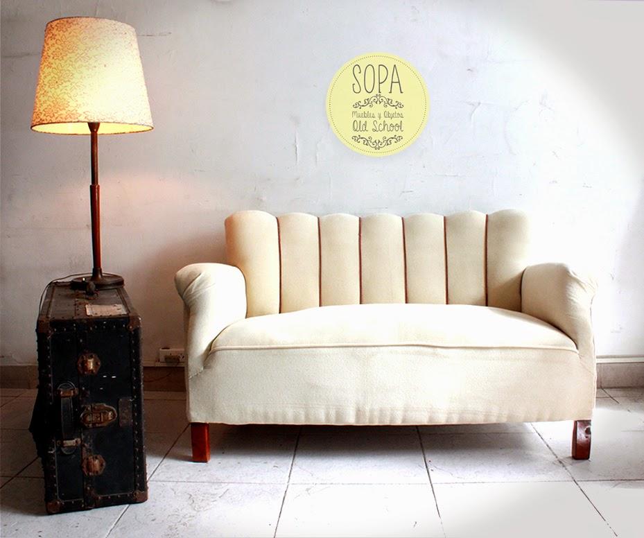 Sopa muebles y objetos old school sill n 2 cuerpos freda for Sillon de dos cuerpos